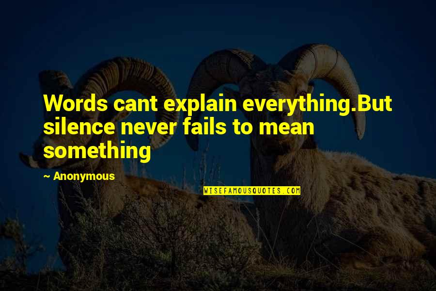Late Night Studying Quotes By Anonymous: Words cant explain everything.But silence never fails to