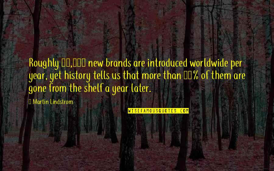 Later Than Quotes By Martin Lindstrom: Roughly 21,000 new brands are introduced worldwide per