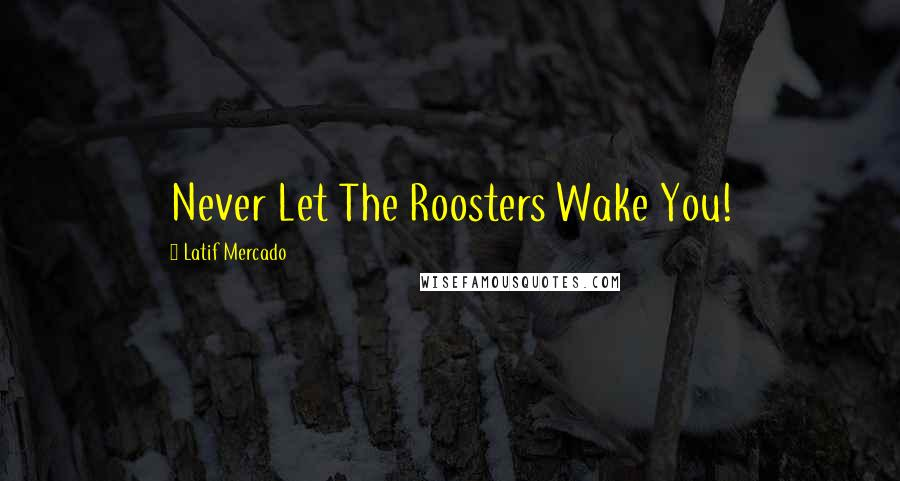 Latif Mercado quotes: Never Let The Roosters Wake You!