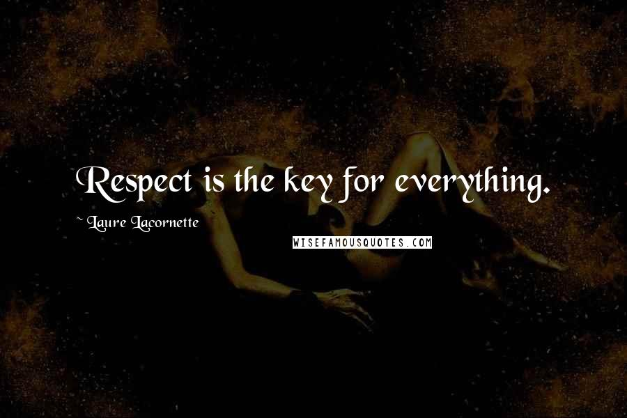 Laure Lacornette quotes: Respect is the key for everything.