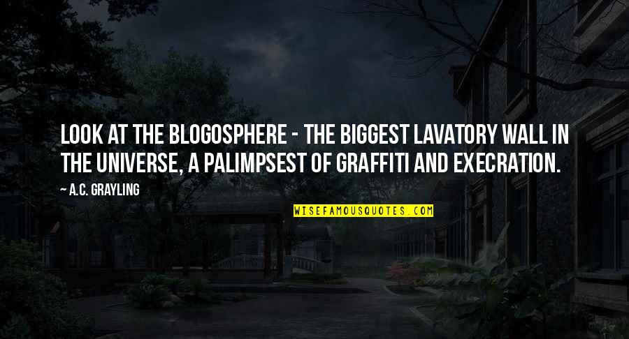 Lavatory Quotes By A.C. Grayling: Look at the blogosphere - the biggest lavatory