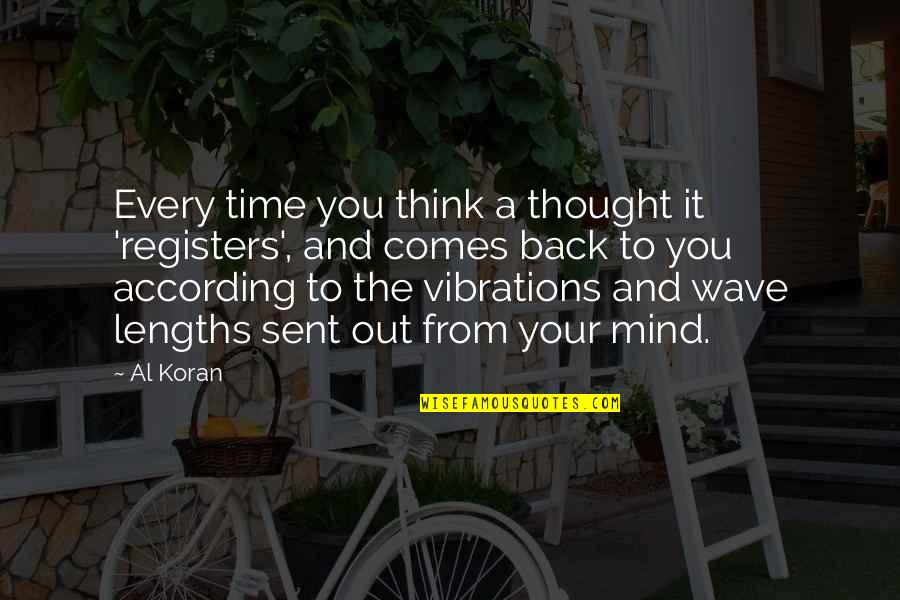 Law Of Attraction Quotes By Al Koran: Every time you think a thought it 'registers',