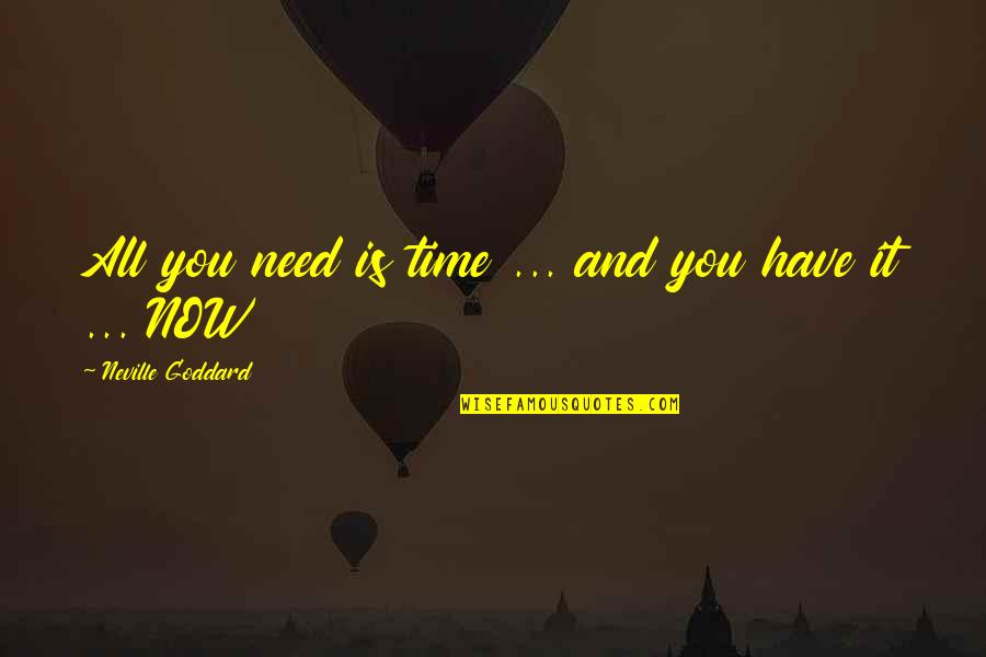 Law Of Attraction Quotes By Neville Goddard: All you need is time ... and you