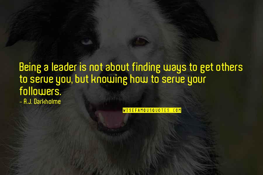 Leadership And Helping Others Quotes By A.J. Darkholme: Being a leader is not about finding ways