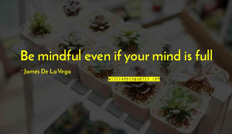 Leandre Quotes By James De La Vega: Be mindful even if your mind is full