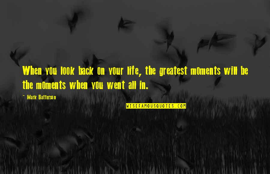 Learn From The Past History Quotes By Mark Batterson: When you look back on your life, the