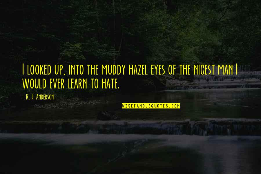 Learn Not To Hate Quotes By R. J. Anderson: I looked up, into the muddy hazel eyes