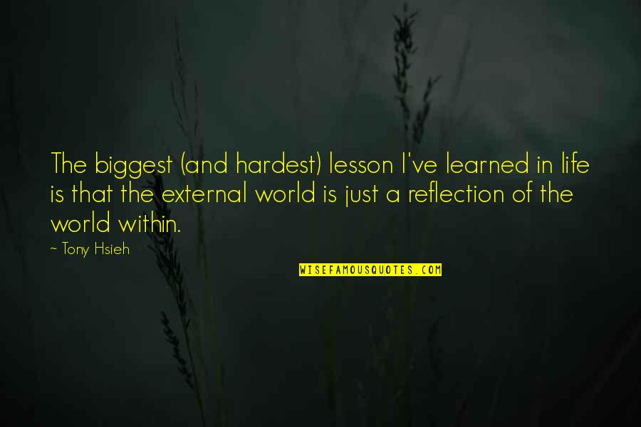 Learned Lessons Quotes By Tony Hsieh: The biggest (and hardest) lesson I've learned in