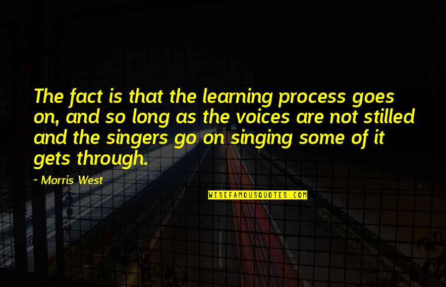 Learning Is Not Quotes By Morris West: The fact is that the learning process goes