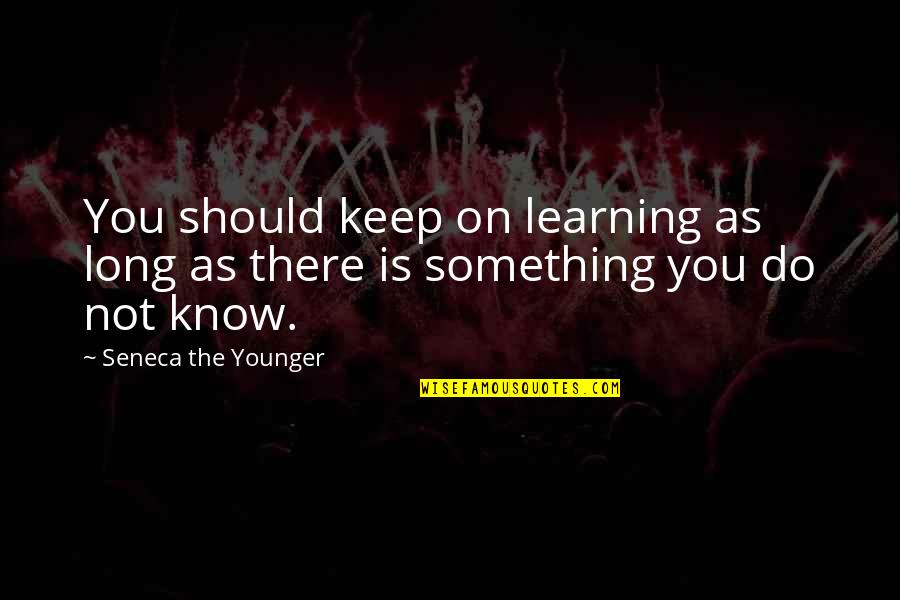 Learning Is Not Quotes By Seneca The Younger: You should keep on learning as long as