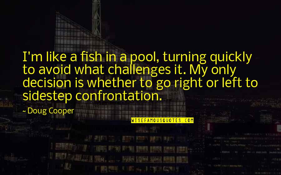 Learning To Think For Yourself Quotes By Doug Cooper: I'm like a fish in a pool, turning