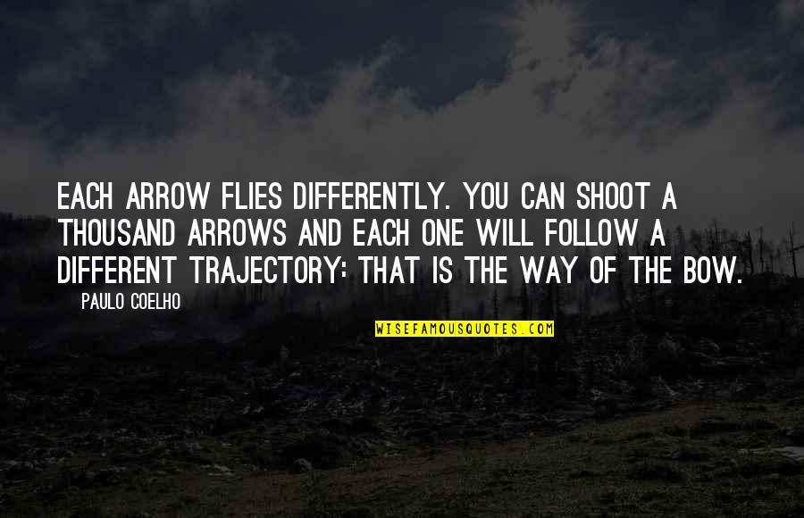 Learning Twain Quotes By Paulo Coelho: Each arrow flies differently. You can shoot a