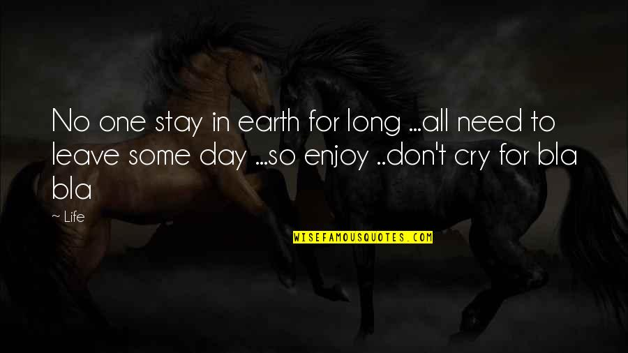 Leave Your Own Life Quotes By Life: No one stay in earth for long ...all