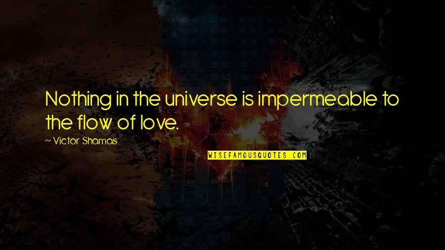 Lebanese Patriotic Quotes By Victor Shamas: Nothing in the universe is impermeable to the