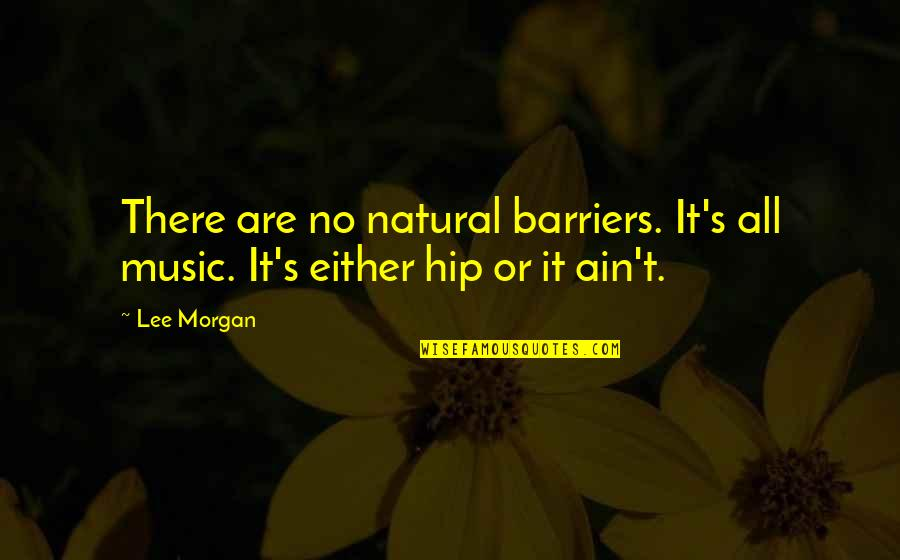 Lee Morgan Quotes By Lee Morgan: There are no natural barriers. It's all music.