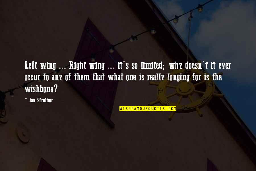 Left Wing Politics Quotes By Jan Struther: Left wing ... Right wing ... it's so