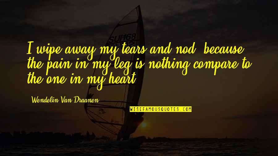 Leg Pain Quotes By Wendelin Van Draanen: I wipe away my tears and nod, because