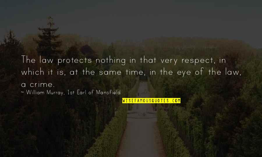 Leg Pain Quotes By William Murray, 1st Earl Of Mansfield: The law protects nothing in that very respect,