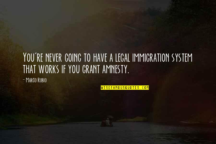 Legal Immigration Quotes By Marco Rubio: You're never going to have a legal immigration