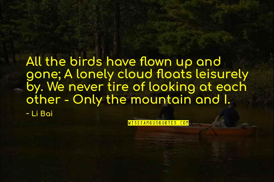 Leisurely Quotes By Li Bai: All the birds have flown up and gone;