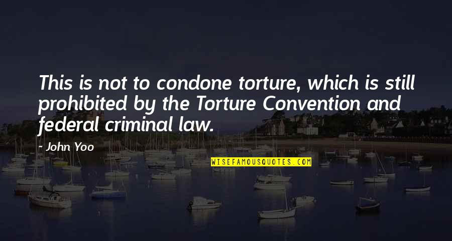 Leo Lioness Quotes By John Yoo: This is not to condone torture, which is