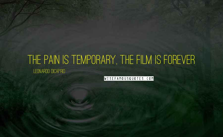 Leonardo DiCaprio quotes: The pain is temporary, the film is forever