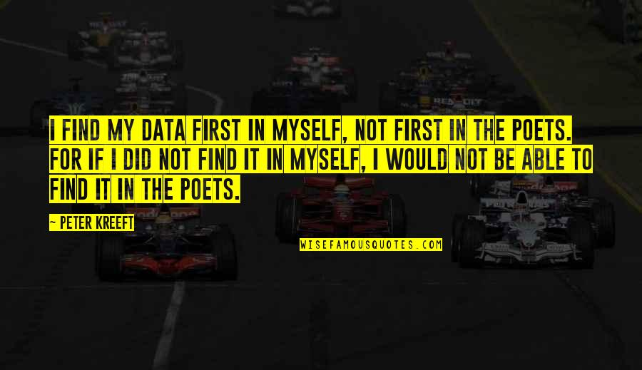 Leopold Kronecker Quotes By Peter Kreeft: I find my data first in myself, not