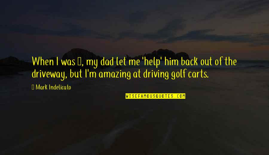 Let Me Help You Quotes By Mark Indelicato: When I was 4, my dad let me