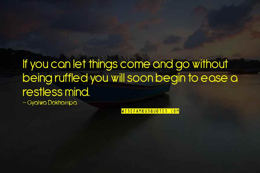 Let Things Come To You Quotes By Gyalwa Dokhampa: If you can let things come and go