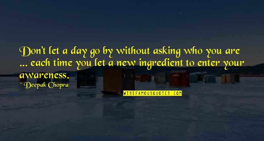Let You Go Quotes By Deepak Chopra: Don't let a day go by without asking