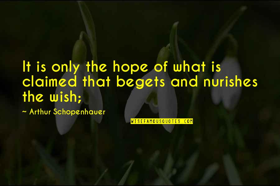 Letitbe Quotes By Arthur Schopenhauer: It is only the hope of what is