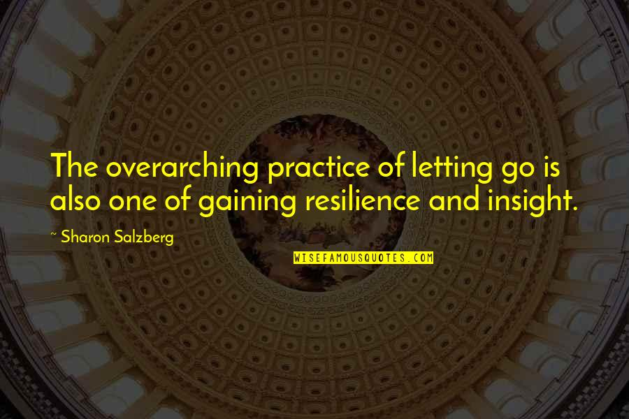 Letting Go The One You Love Quotes By Sharon Salzberg: The overarching practice of letting go is also