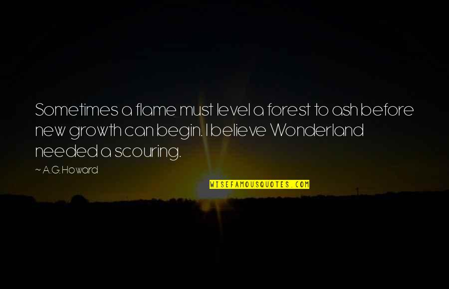Level 1 2 3 Quotes By A.G. Howard: Sometimes a flame must level a forest to