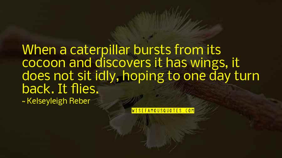 Life Accepting Quotes By Kelseyleigh Reber: When a caterpillar bursts from its cocoon and