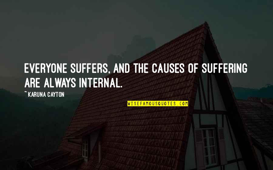 Life Al Pacino Quotes By Karuna Cayton: Everyone suffers, and the causes of suffering are