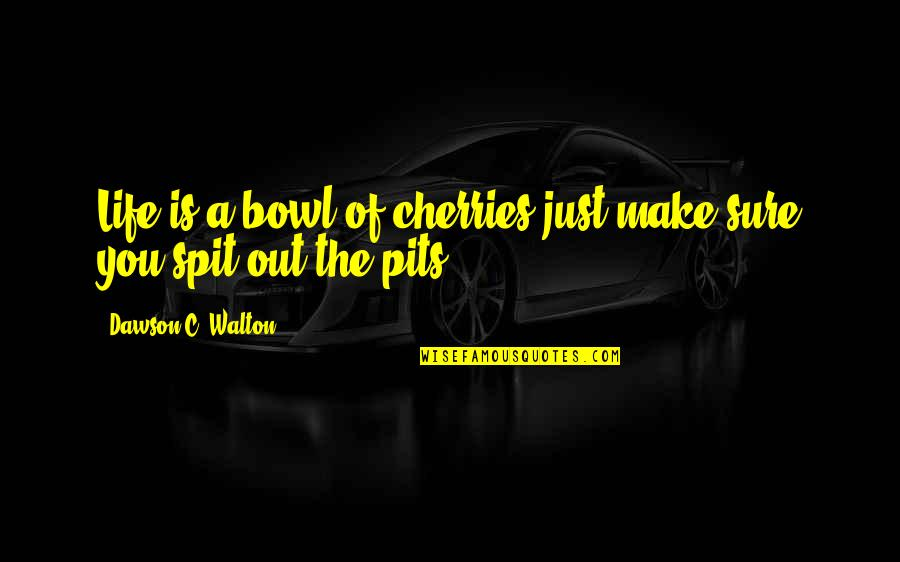 Life And Cherries Quotes By Dawson C. Walton: Life is a bowl of cherries just make