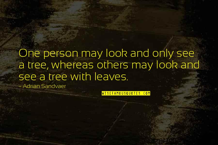 Life And Human Nature Quotes By Adrian Sandvaer: One person may look and only see a