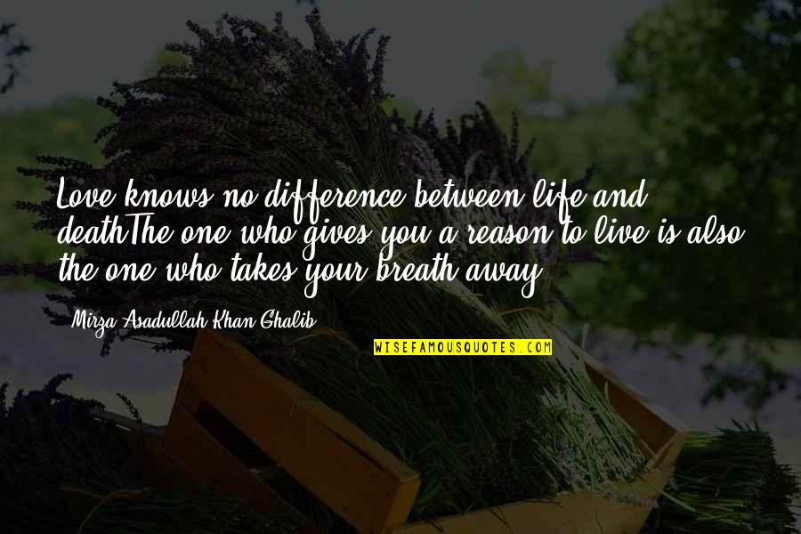 Life And Love And Death Quotes By Mirza Asadullah Khan Ghalib: Love knows no difference between life and deathThe