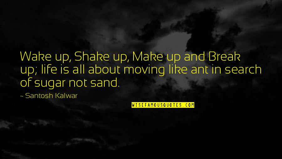 Life And Love And Moving Quotes By Santosh Kalwar: Wake up, Shake up, Make up and Break