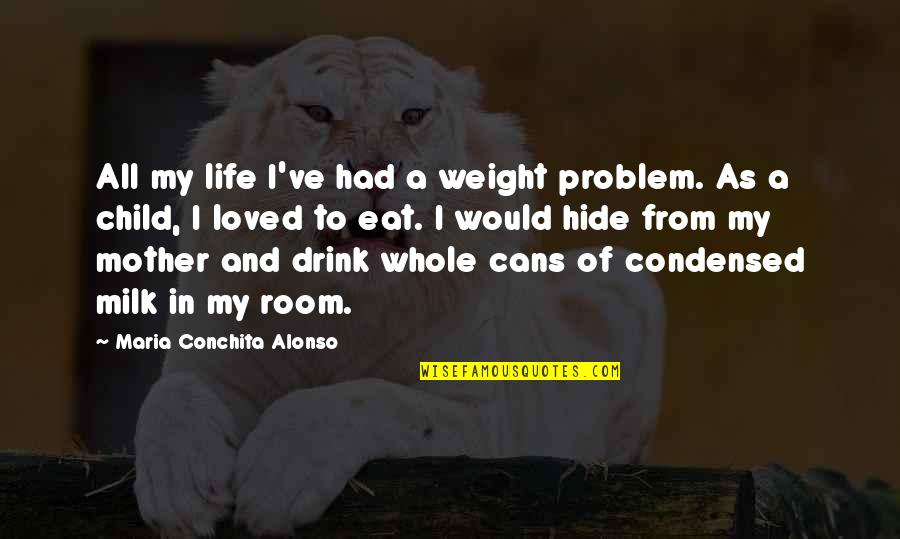 Life As A Mother Quotes By Maria Conchita Alonso: All my life I've had a weight problem.