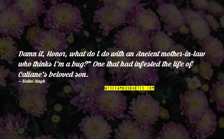 Life As A Mother Quotes By Nalini Singh: Damn it, Honor, what do I do with