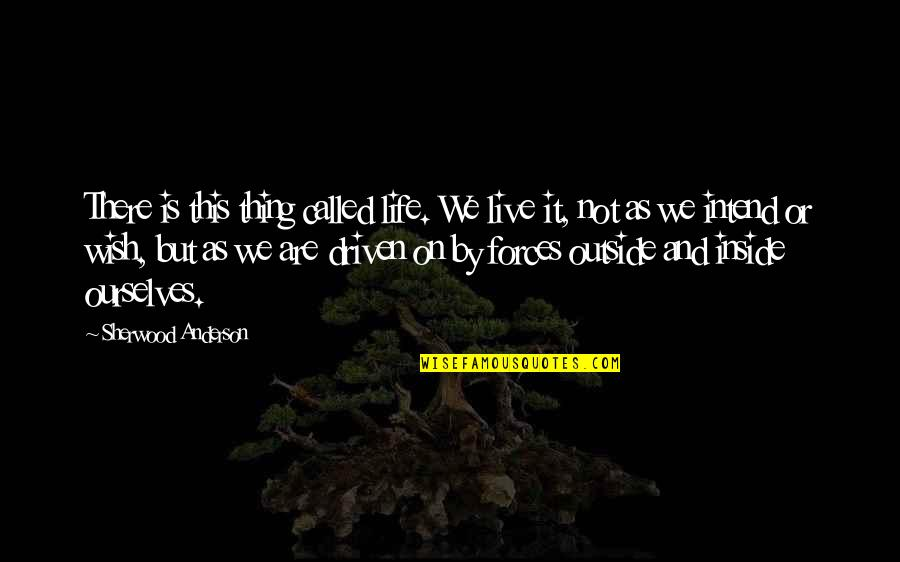 Life As We Live It Quotes By Sherwood Anderson: There is this thing called life. We live