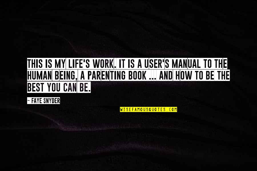 Life Being A Book Quotes By Faye Snyder: This is my life's work. It is a