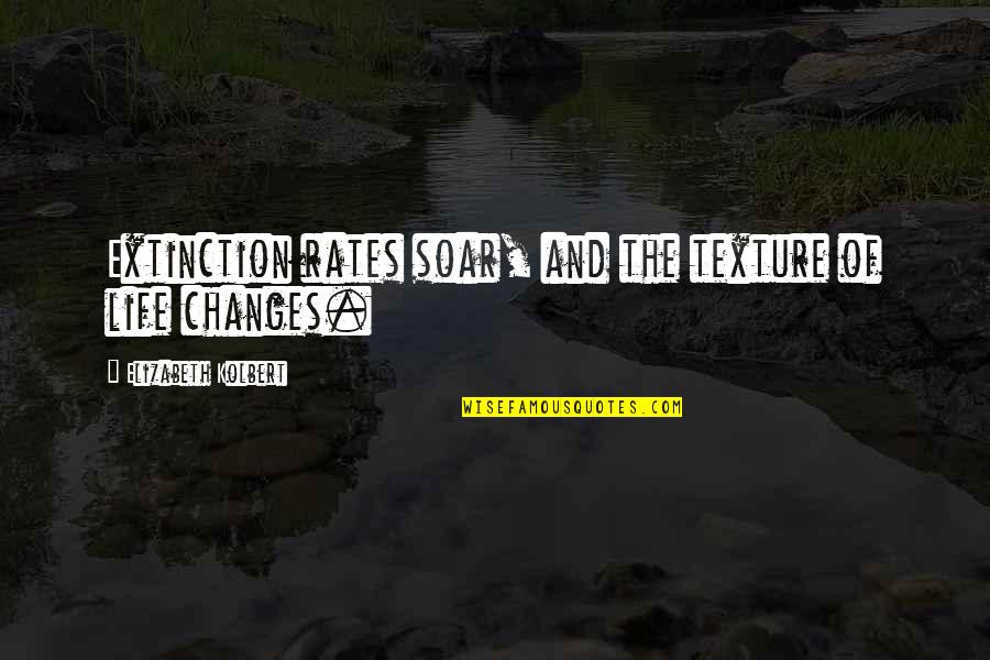 Life Changes Quotes By Elizabeth Kolbert: Extinction rates soar, and the texture of life