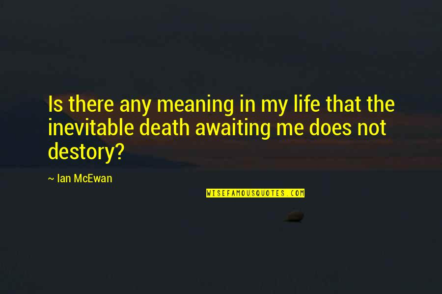 Life Death And Meaning Quotes By Ian McEwan: Is there any meaning in my life that