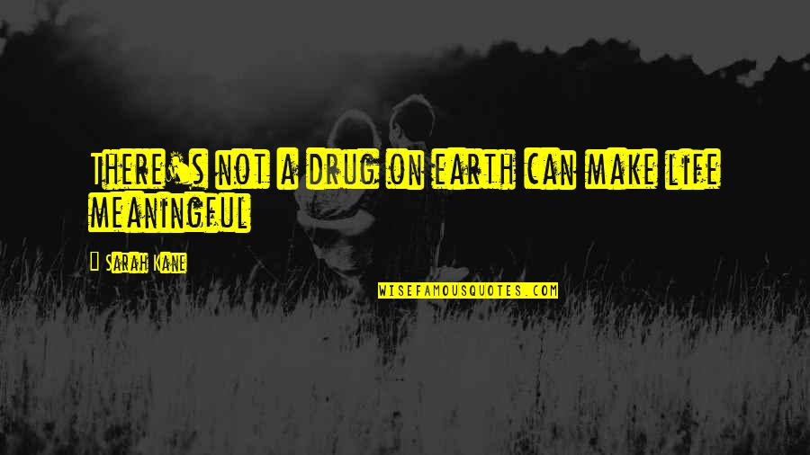 Life Death And Meaning Quotes By Sarah Kane: There's not a drug on earth can make