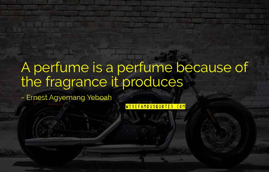 Life Deceptions Quotes By Ernest Agyemang Yeboah: A perfume is a perfume because of the
