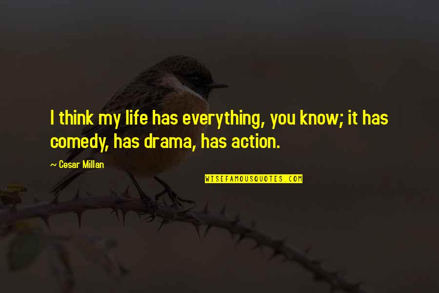 Life Drama Quotes By Cesar Millan: I think my life has everything, you know;