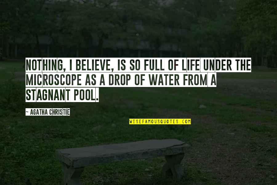 Life Drop Quotes By Agatha Christie: Nothing, I believe, is so full of life
