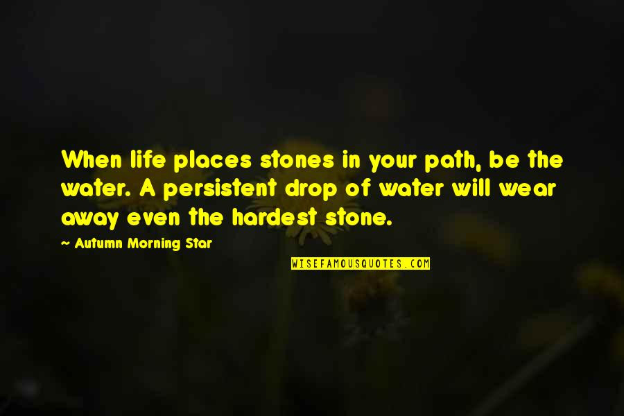 Life Drop Quotes By Autumn Morning Star: When life places stones in your path, be
